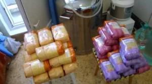 Фото сбора ингредиентов для приготовления бурбона, vid.lt