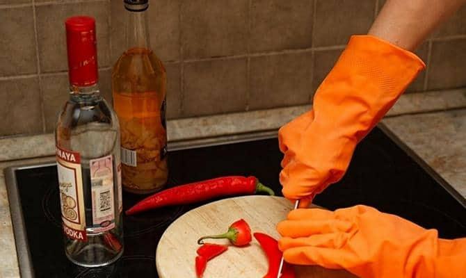 Приготовление настойки из красного перца