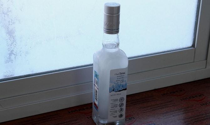 Технология замерзания водки