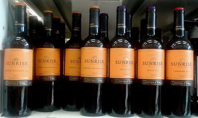 Красное, розовое и белое сухое чилийское вино