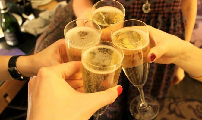 Сколько градусов и калорий в шампанском