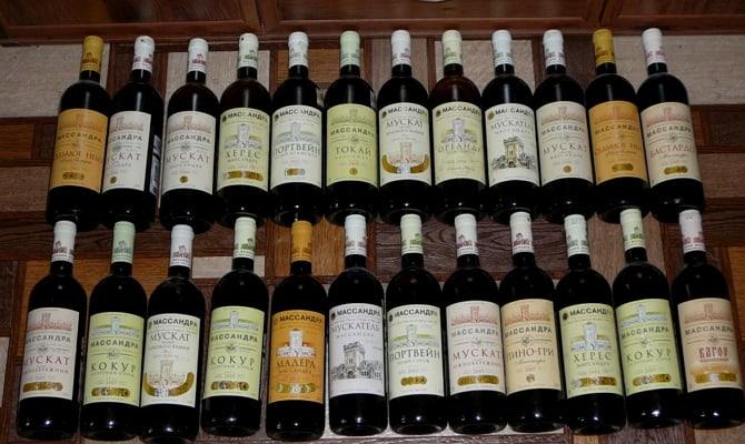 Десертное красное вино Массандра мускат