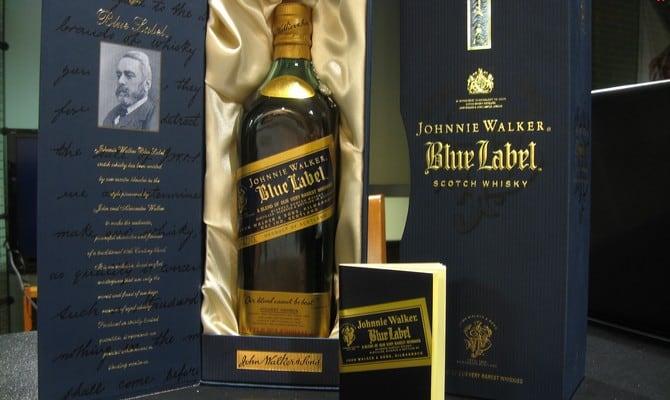 Эксклюзивный виски Блю Лейбл от Джонни Уокер