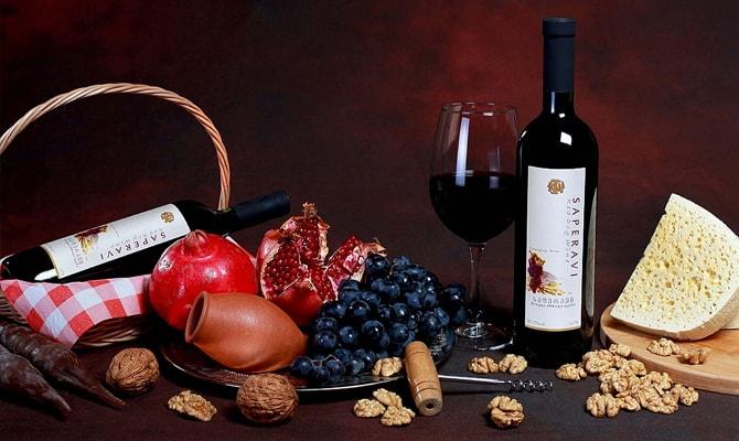 Грузинское вино Саперави
