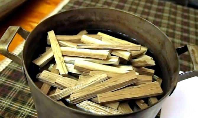 Обжиг дубовой щепы в домашних условиях
