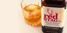 Знаменитый американский бурбон jim beam red stag