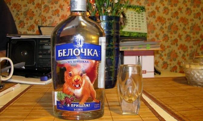 Оригинальная водка Белочка