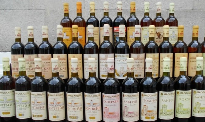Портвейн Алушта от винодельческого завода Массандра