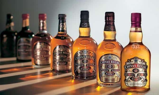 Ассортимент виски Chivas