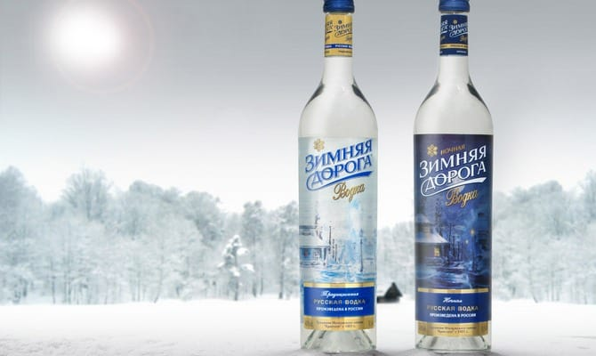 Вкусная водка Зимняя дорога