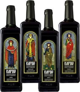 На фото - церковное вино кагор, vilash.ru