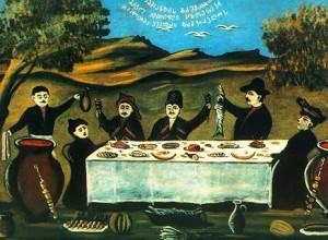 На фото - грузинское застолье, daily-winegraph.livejournal.com