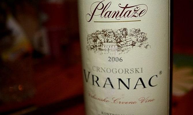 Фото Черногорского вина Вранац