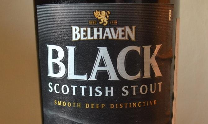 На фото - сорт пива Belhaven Scottish Stout