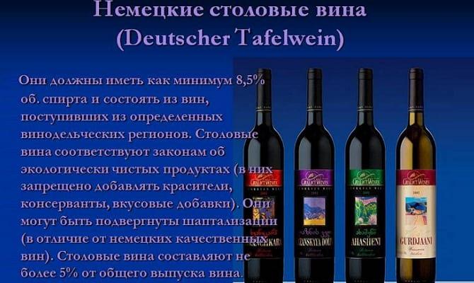 Фото германского вина категории Tafelwein