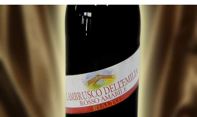 Вино «Lambrusco della Emilia Rosso Amabile»