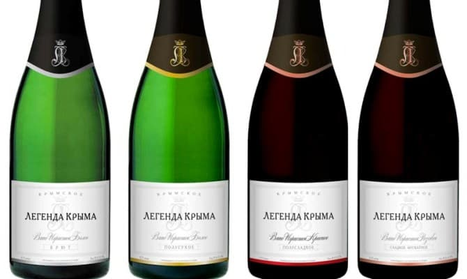 Шампанское крымской компании