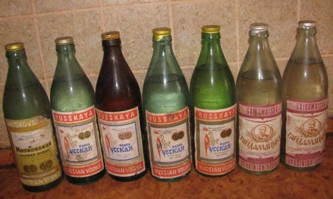 Водка во времена СССР –дешево и стандартно