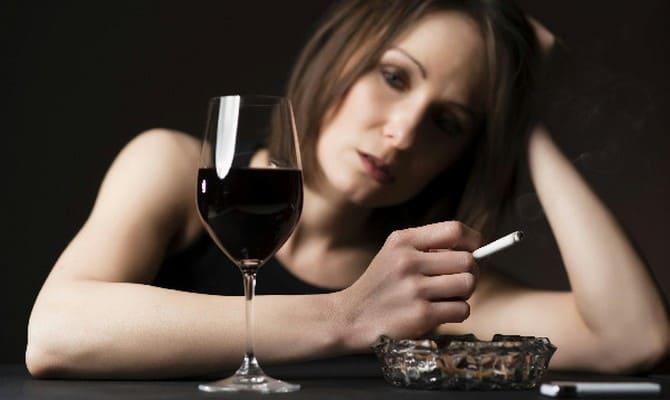 Депрессии при потреблении алкоголя