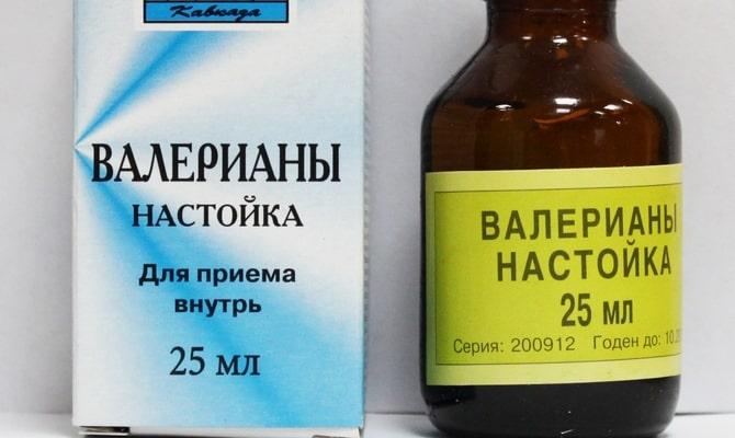 Настойка валерианы в бутылочке