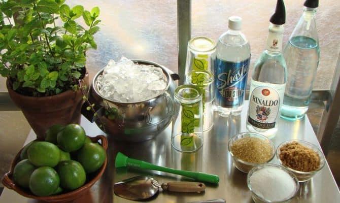 Ингредиенты для приготовления коктейля