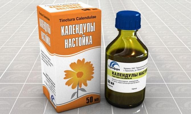 Настойка календулы с антисептическими свойствами