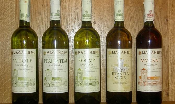 Столовые марки крымского вина