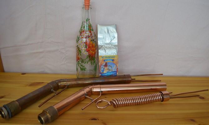 Устройство для дистилляции из медных труб
