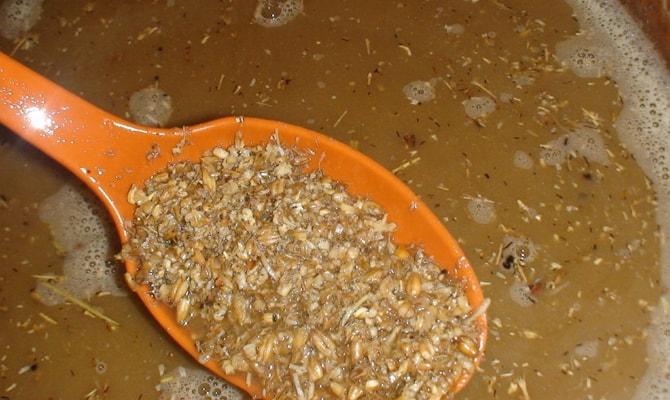Варка солода из пшеницы и ячменя
