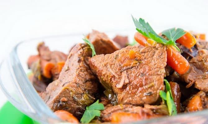 Рецепты говядины в белом вине