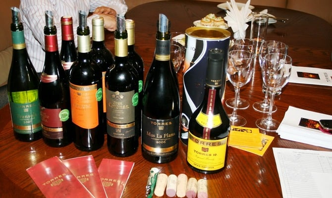 Классификация вин семьи Торрес