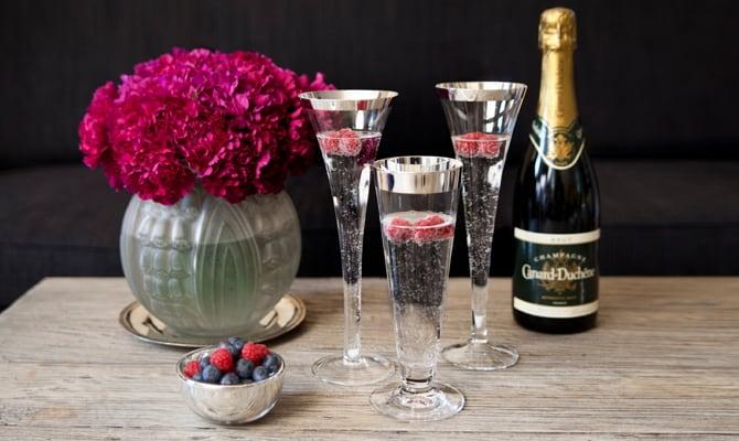 История появления бокалов для шампанского
