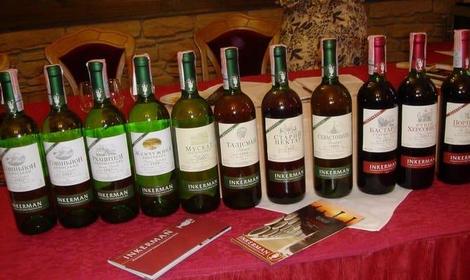 Характеристика вин завода Инкерман