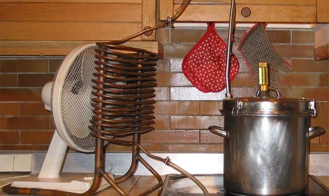 Теплообменник из радиатора