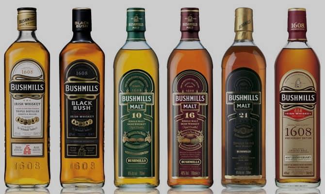Разновидности виски «Бушмилс»